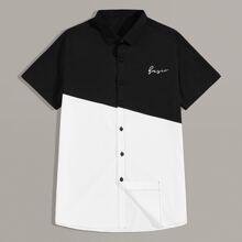 Maenner Hemd mit Knopfen