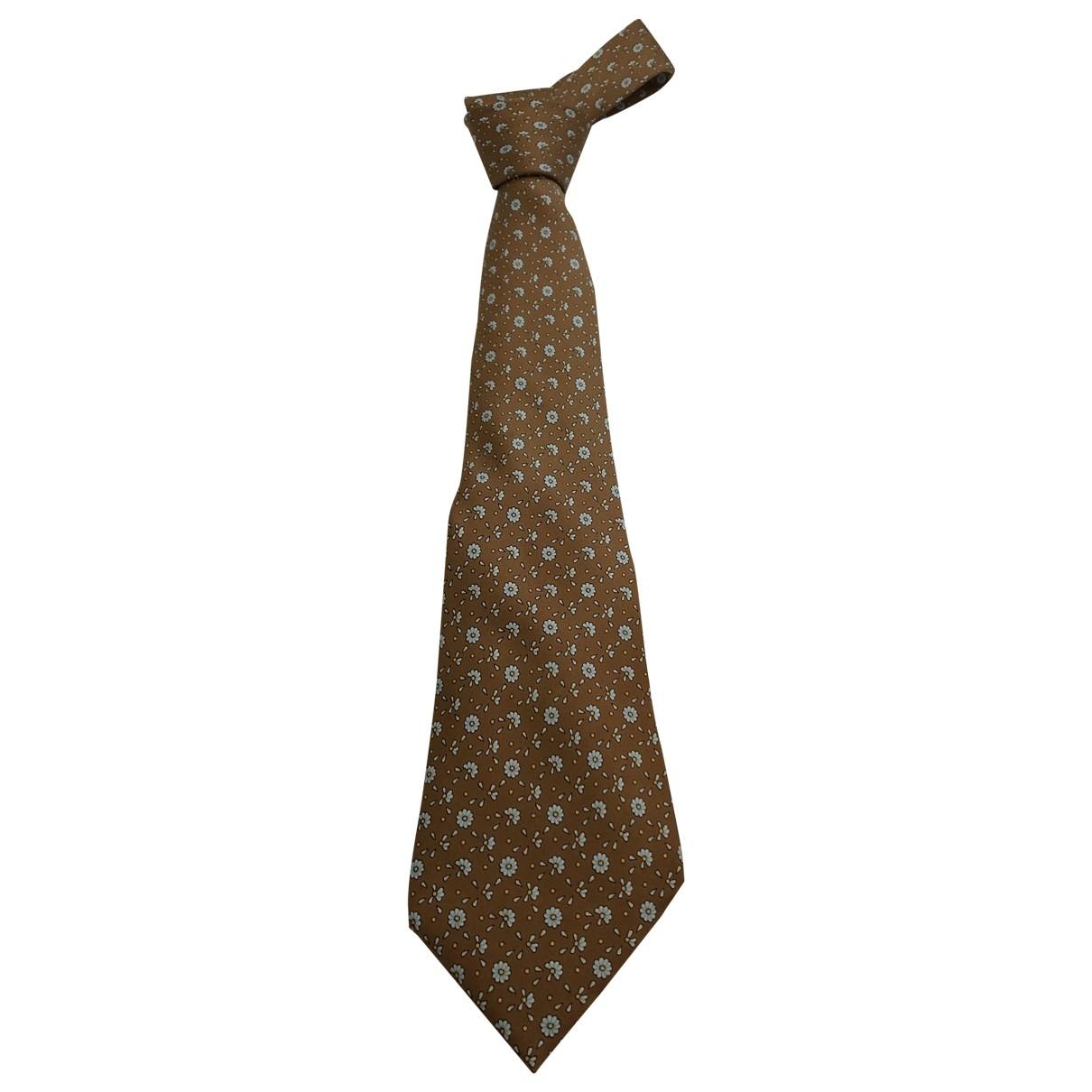 Hermès \N Camel Silk Ties for Men \N