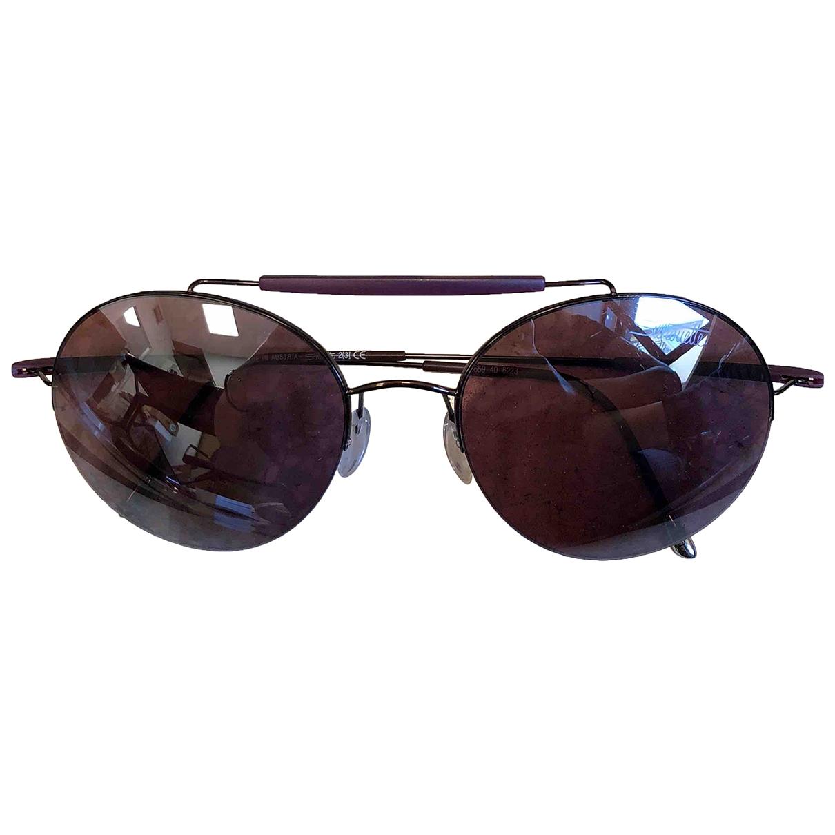 Silhouette \N Purple Metal Sunglasses for Women \N