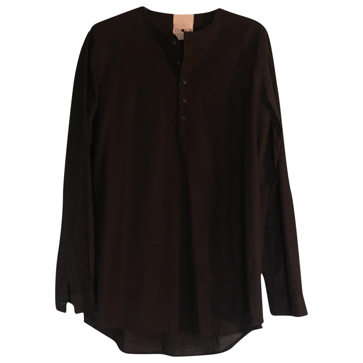 - Chemises Hippie Chic pour homme en lin - noir
