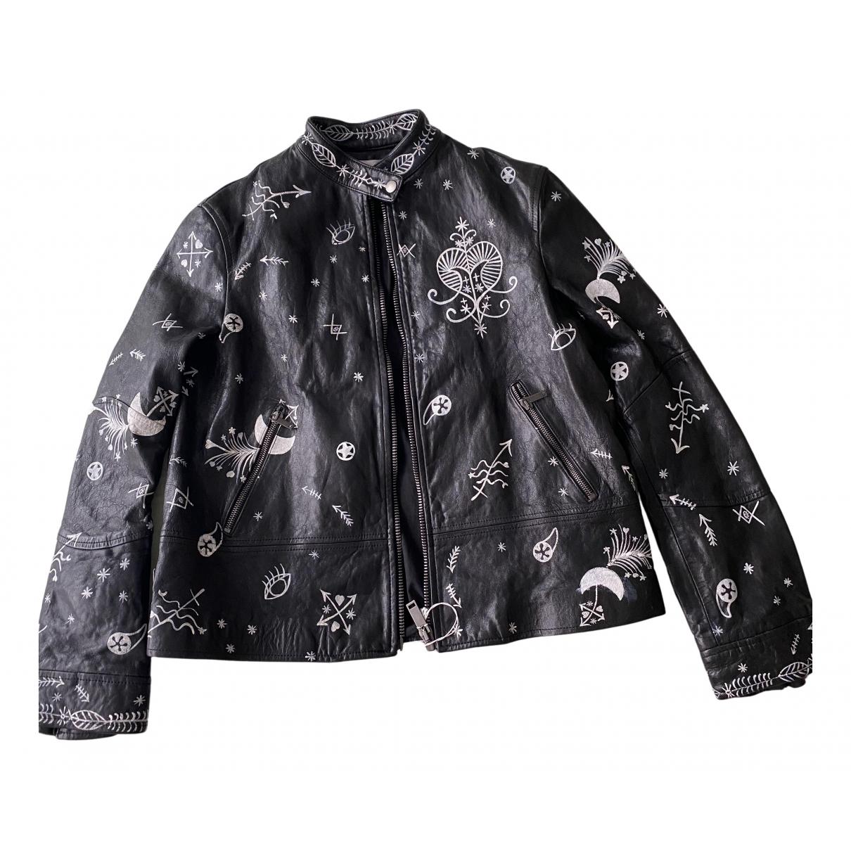 Valentino Garavani N Black Leather jacket for Women 40 IT