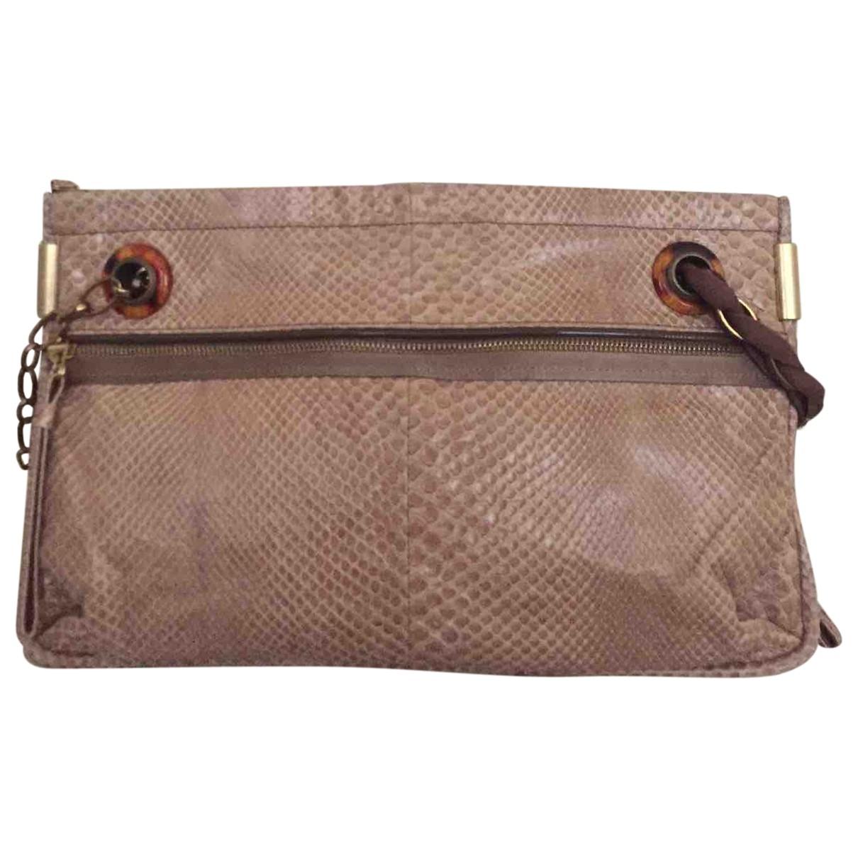 Lanvin Amalia Pink Python handbag for Women \N
