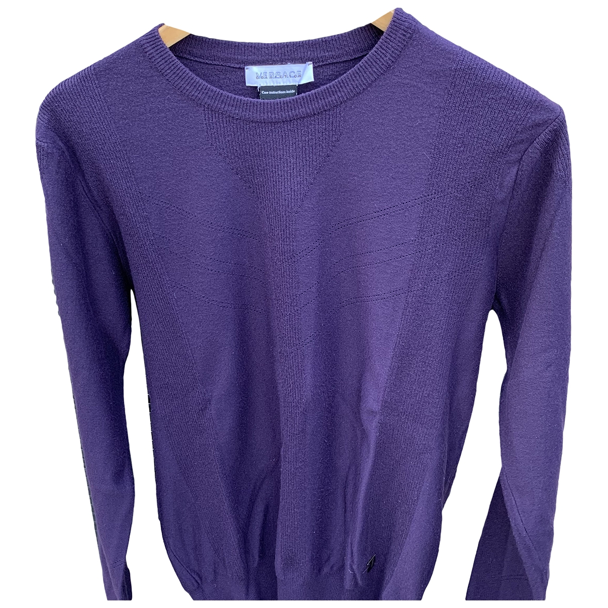 Versace \N Pullover.Westen.Sweatshirts  in  Lila Baumwolle