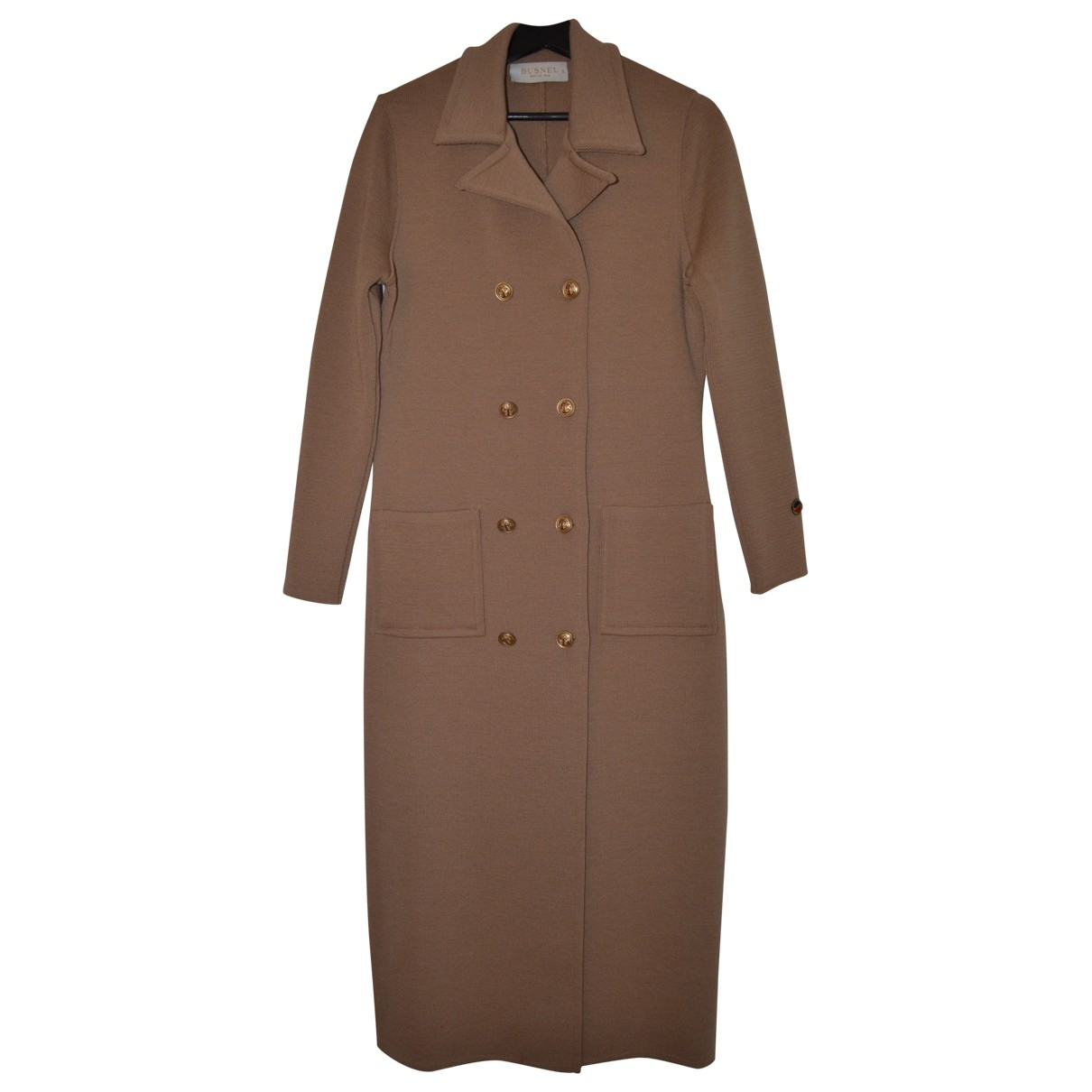 Non Signé / Unsigned \N Beige Wool coat for Women 36 FR