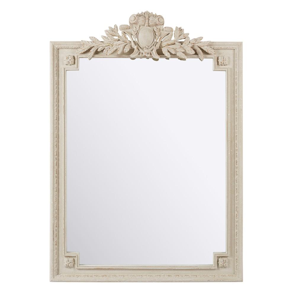 Spiegel mit grauem Zierrahmen 120x185
