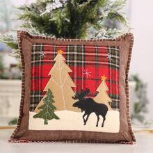 Kissenbezug mit Weihnachten Muster ohne Fuelle