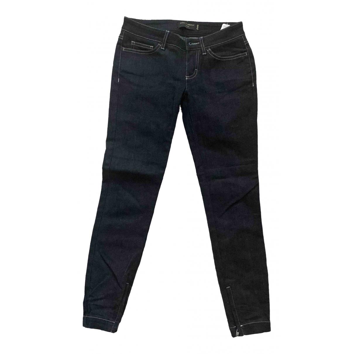 Dolce & Gabbana - Jean   pour femme en coton - elasthane - bleu