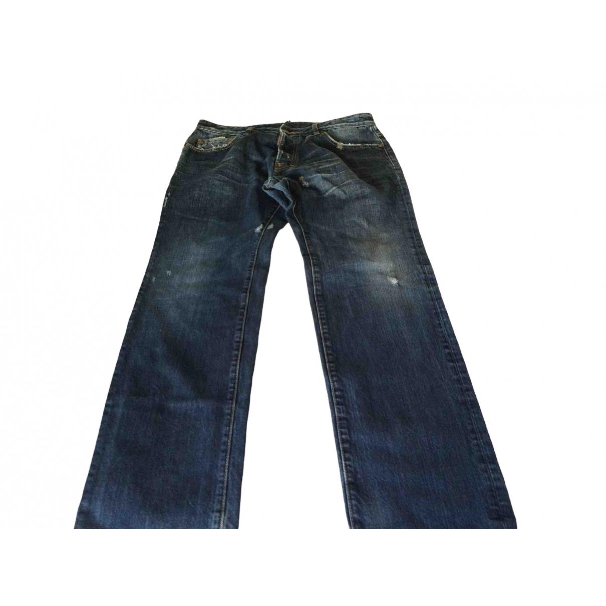 Dsquared2 \N Blue Cotton Jeans for Men 36 US