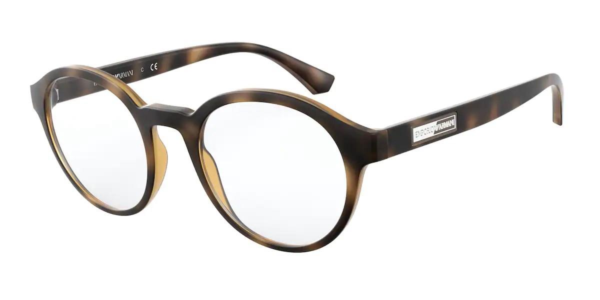 Emporio Armani EA3163F Asian Fit 5089 Men's Glasses Tortoise Size 52 - Free Lenses - HSA/FSA Insurance - Blue Light Block Available