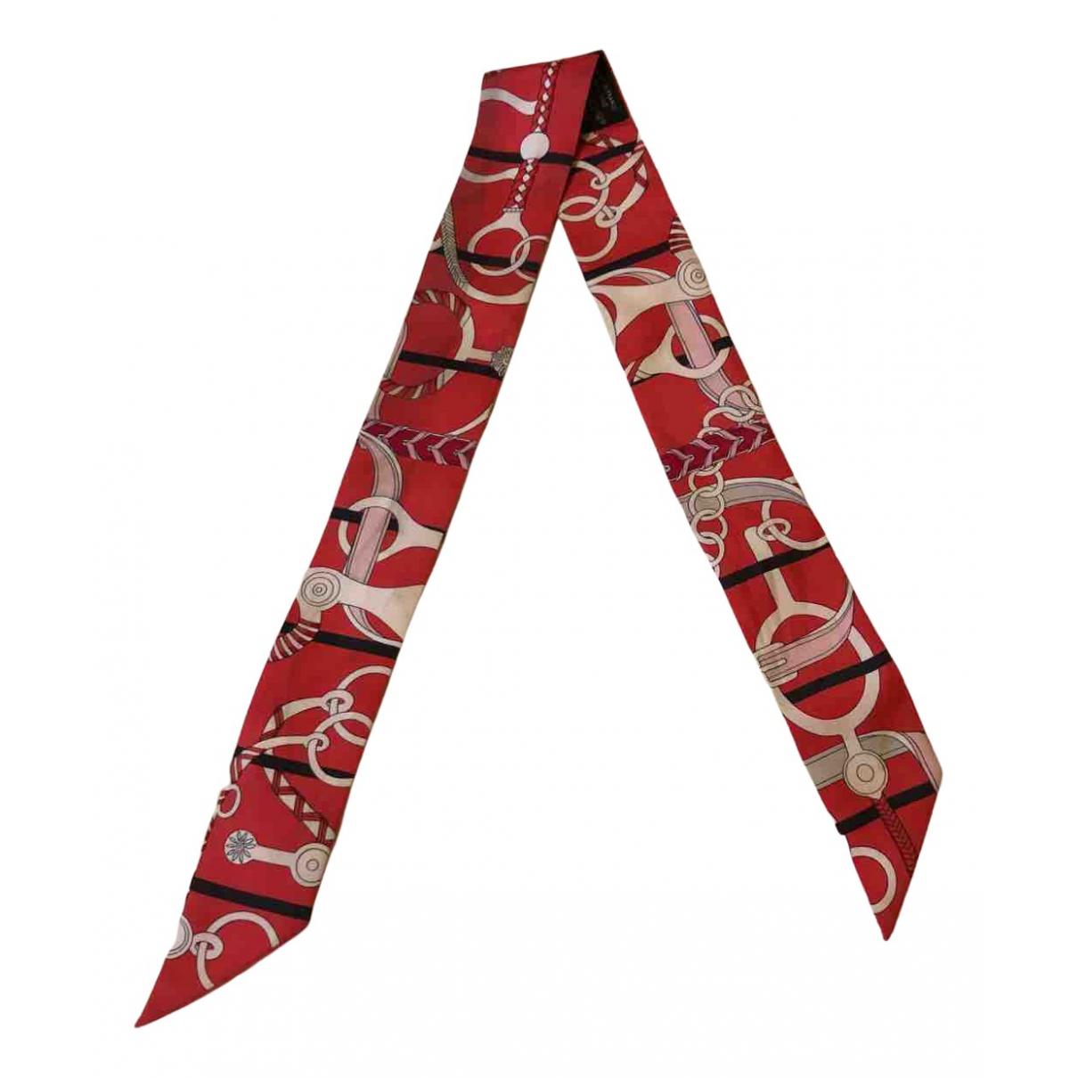 Hermès Twilly 86 Red Silk scarf for Women N