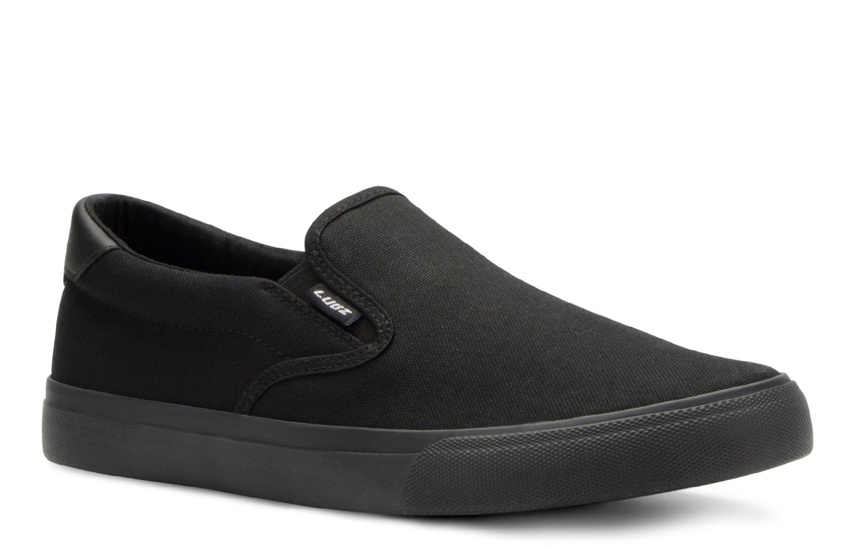Men's Clipper Slip-On Sneaker (Choose Your Color: BLACK, Choose Your Size: 9.0)