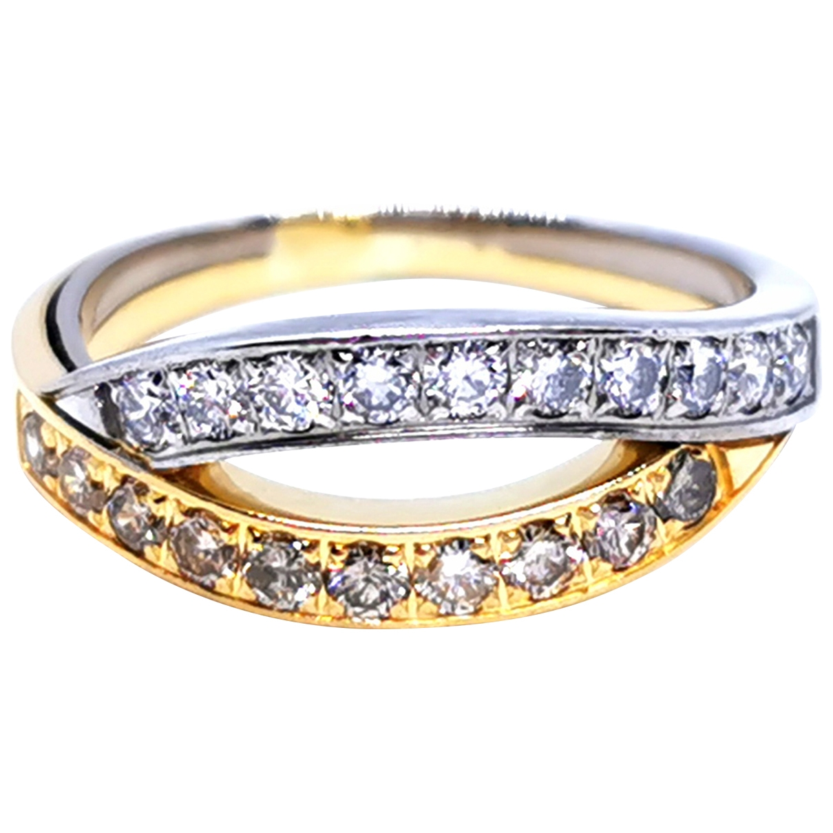 Non Signe / Unsigned \N Ring in  Silber Gelbgold