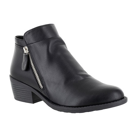 Easy Street Womens Gusto Booties Block Heel, 7 Medium, Black