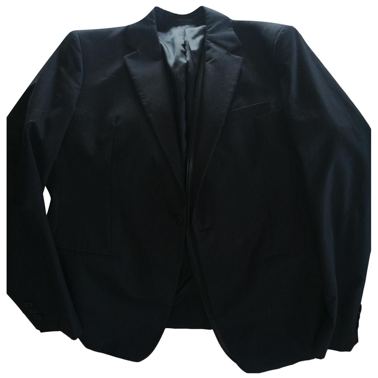 Emporio Armani \N Black Cotton jacket  for Men 52 IT