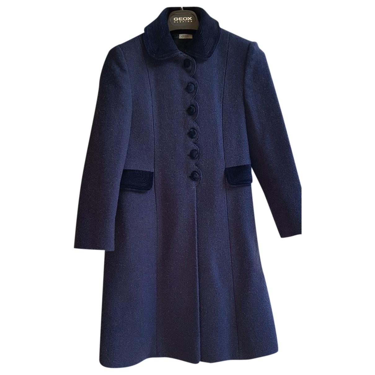 - Blousons.Manteaux   pour enfant en laine - bleu
