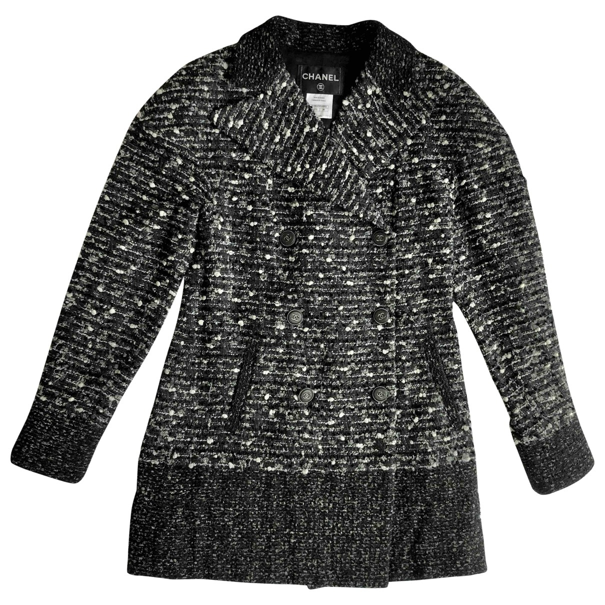 Chanel - Veste   pour femme en tweed - anthracite