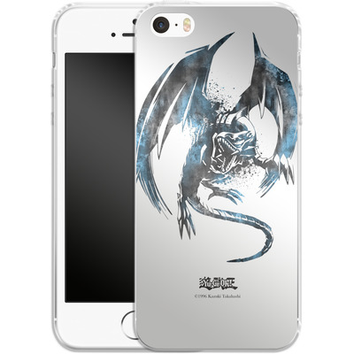 Apple iPhone SE Silikon Handyhuelle - Blue-Eyes White Dragon von Yu-Gi-Oh!