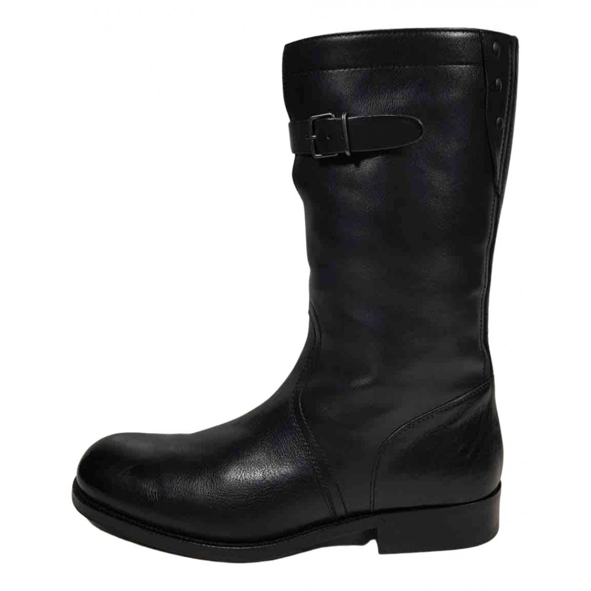 Gucci N Black Leather Boots for Men 42 EU