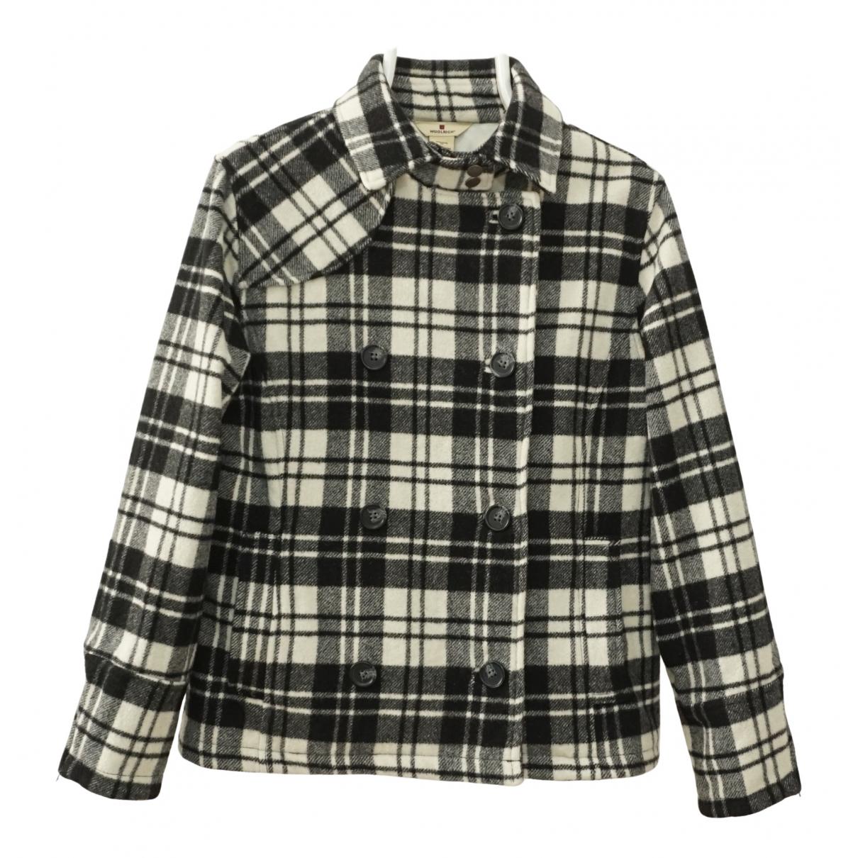 Woolrich - Manteau   pour femme en laine - multicolore