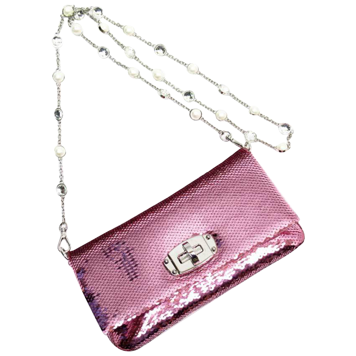 Miu Miu \N Clutch in  Rosa Mit Pailletten