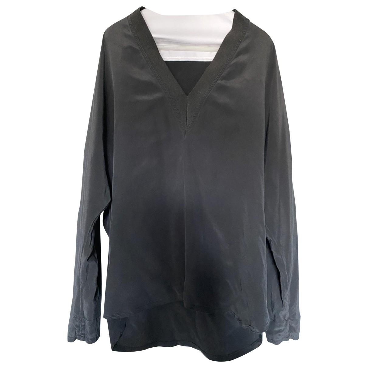 Sandro \N Black Silk  top for Women 38 FR