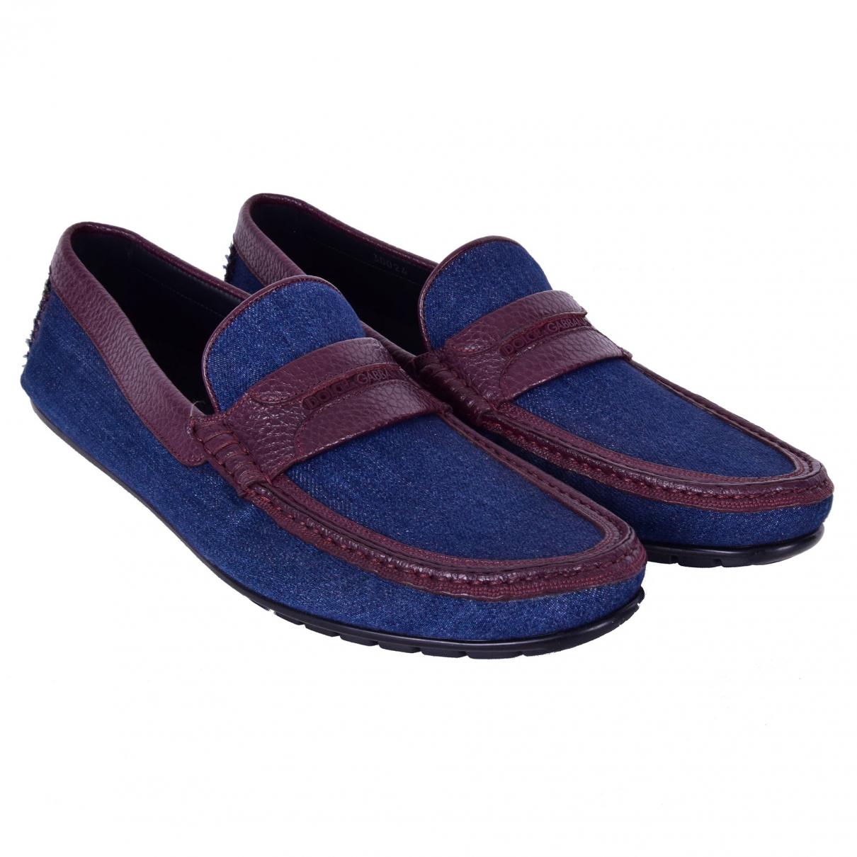 Dolce & Gabbana \N Blue Cloth Flats for Men 44 EU