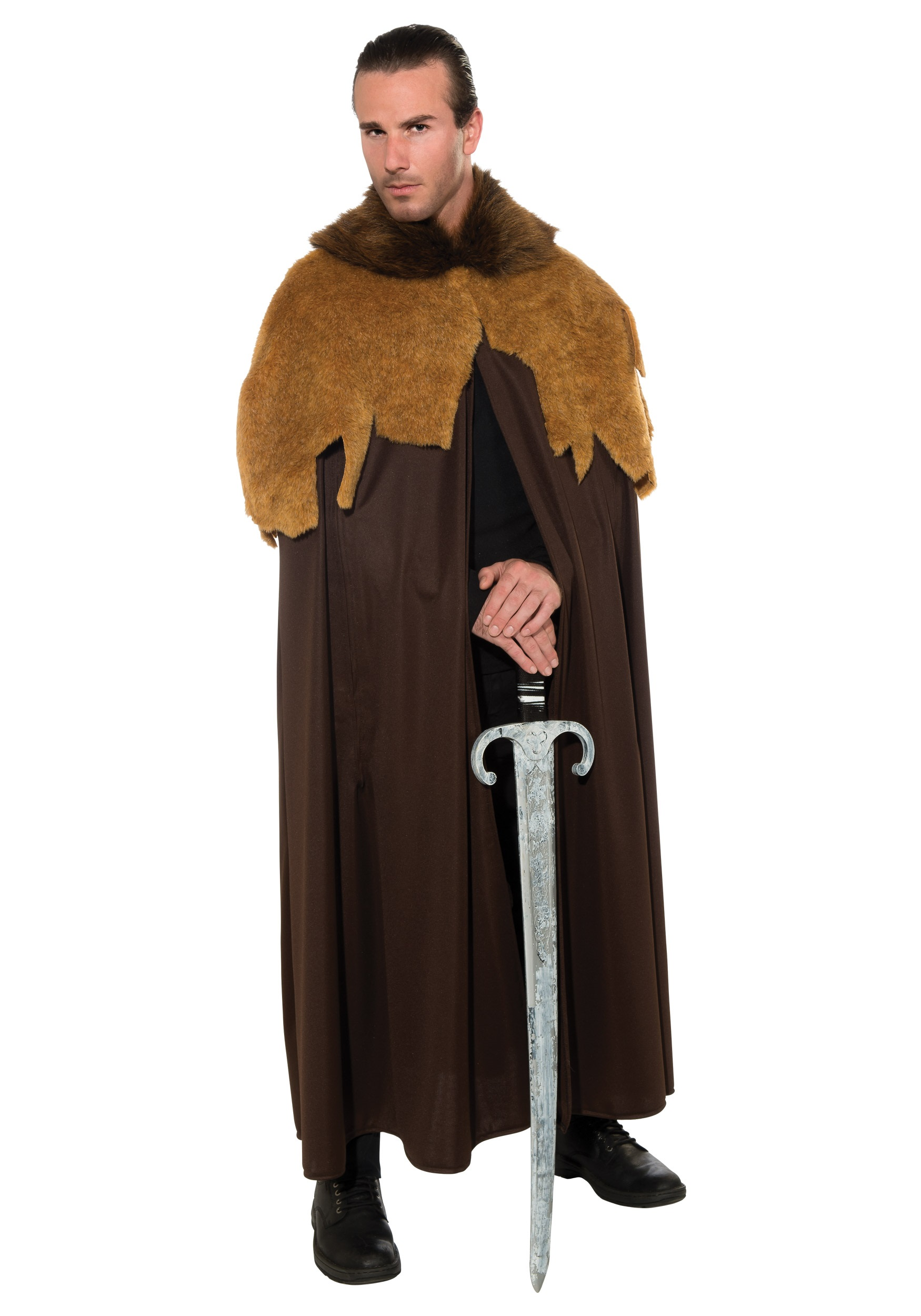 Men's Medieval Warrior Cloak Costume