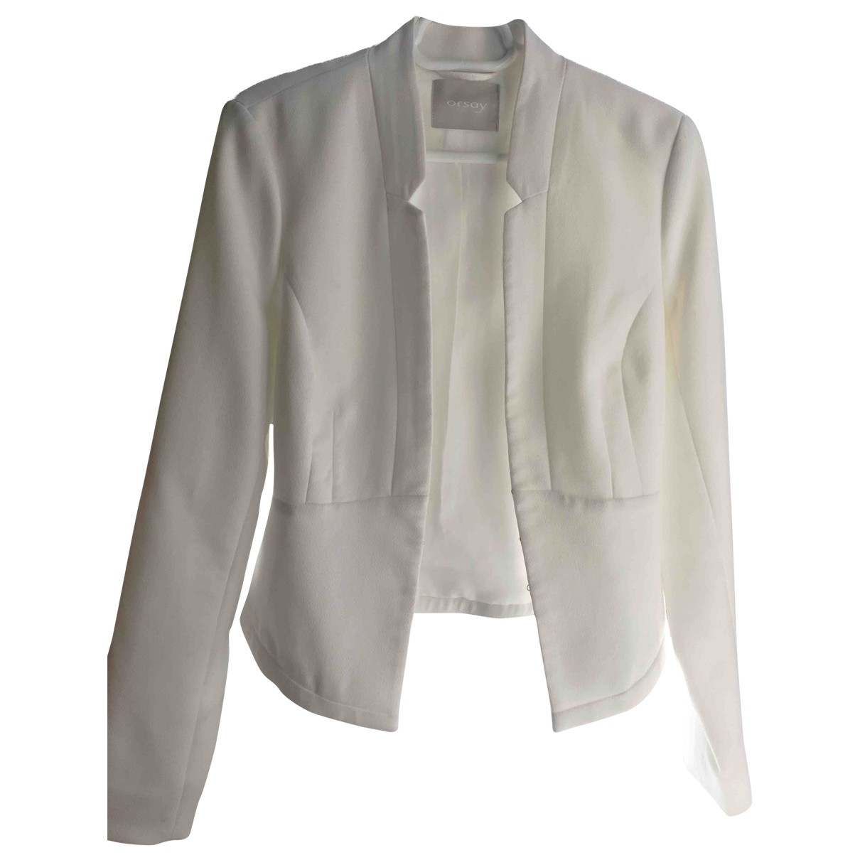 Non Signé / Unsigned \N White Cotton jacket for Women 34 FR