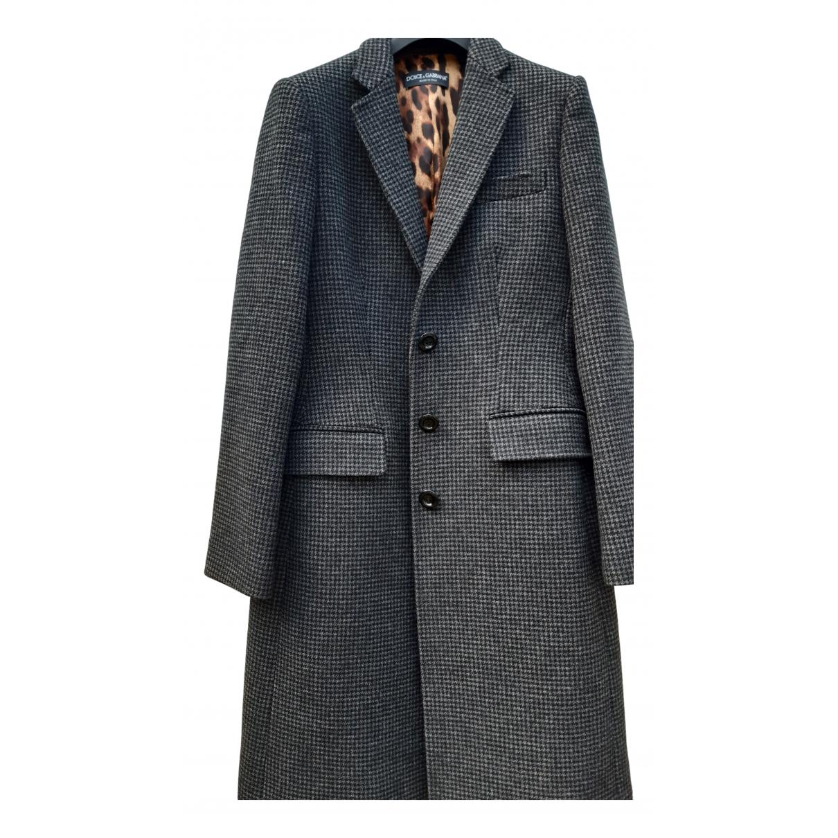 Dolce & Gabbana - Manteau   pour femme en laine - gris