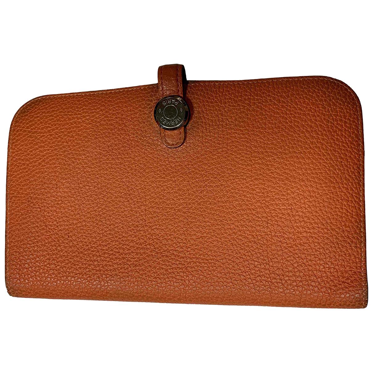 Hermes - Petite maroquinerie Dogon pour femme en cuir - orange