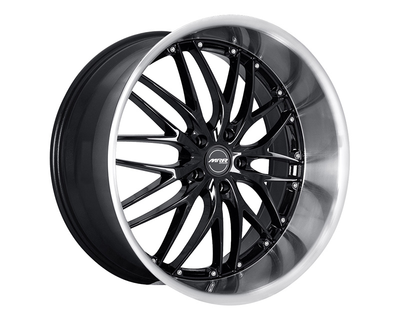MRR Design Gloss Black with Machined Lip GT1 Wheel 19x8.5