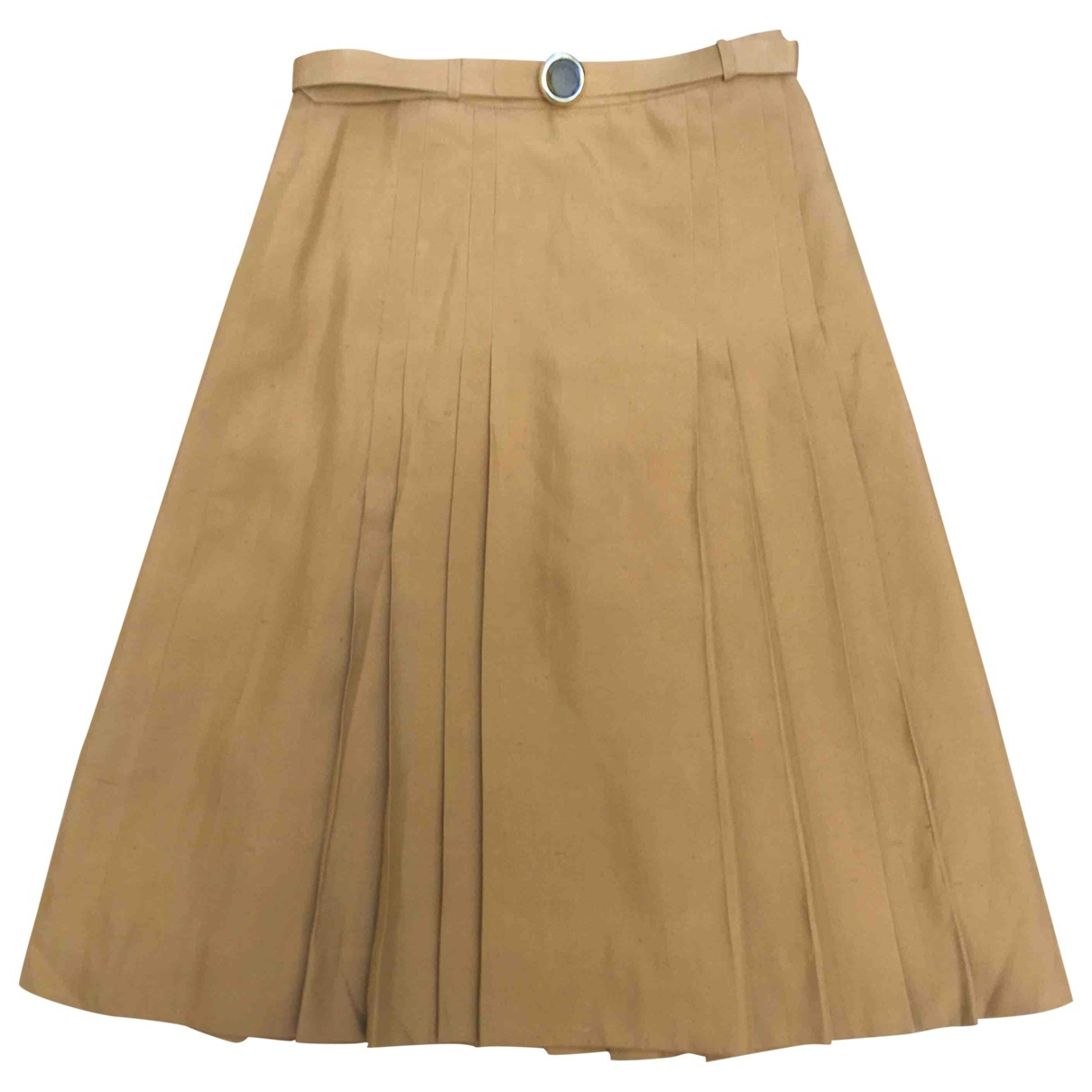 Non Signé / Unsigned \N Brown Silk skirt for Women 42 IT