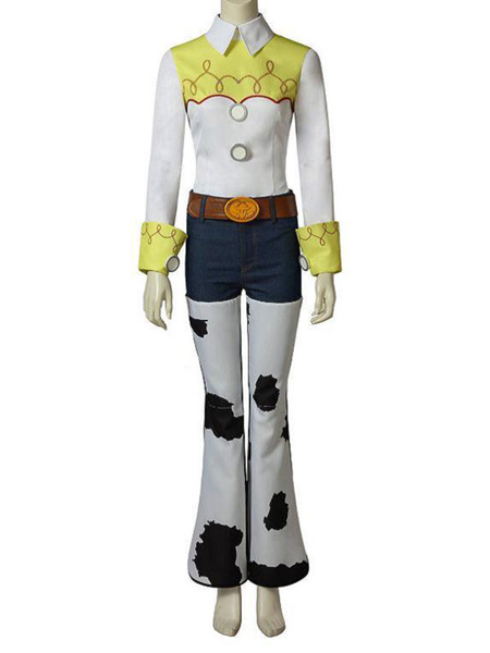 Milanoo Toy Story 4 Cosplay Jessie White 5 Piece Film Set Disney Cartoon Cosplay