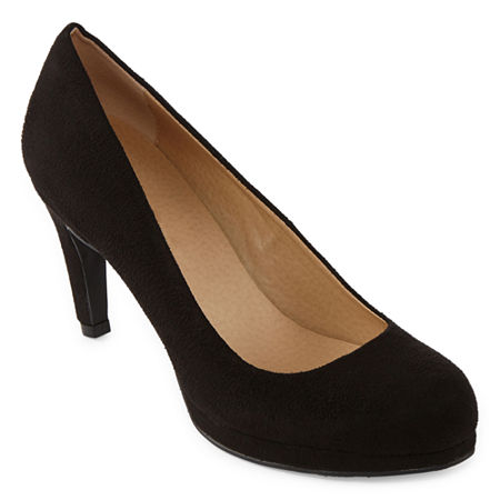 CL by Laundry Womens Nidia Round Toe Stiletto Heel Pumps, 9 Medium, Black