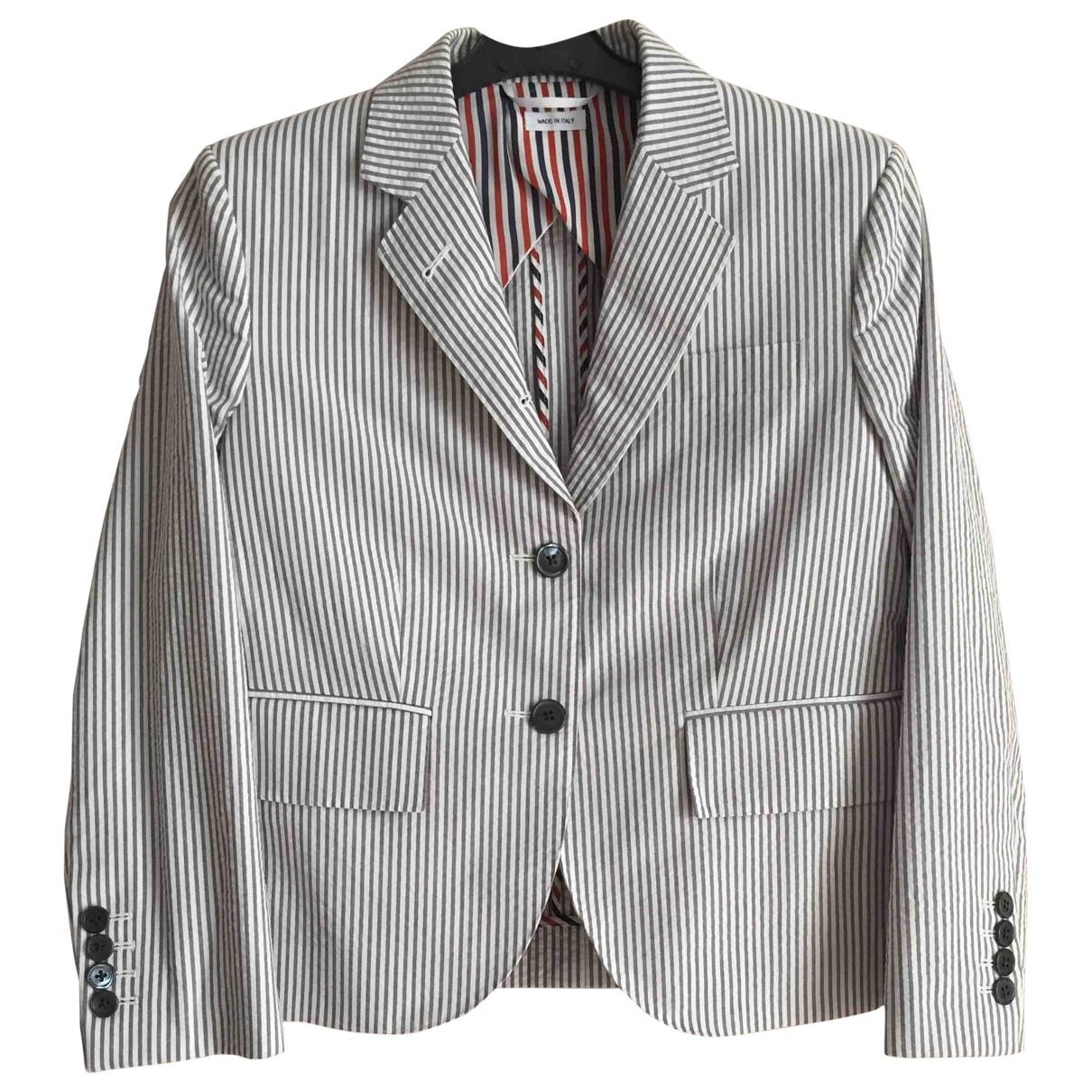 Thom Browne - Veste   pour femme en coton - blanc