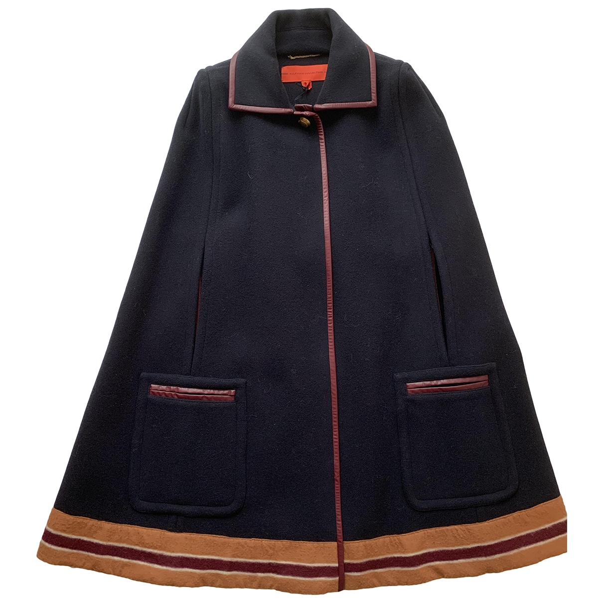 Hilfiger Collection \N Navy Wool coat for Women 8 US