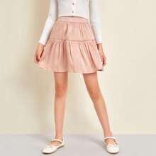 Falda bajo con fruncido de cintura elastica