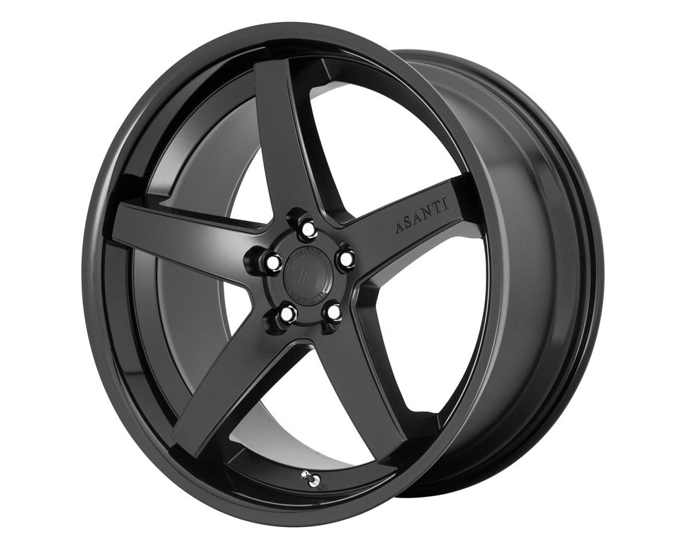 Asanti ABL31-22905232SB Black Label ABL-31 Regal Wheel 22.00x9.00 5X120 32 Satin Black Gloss Black Lip
