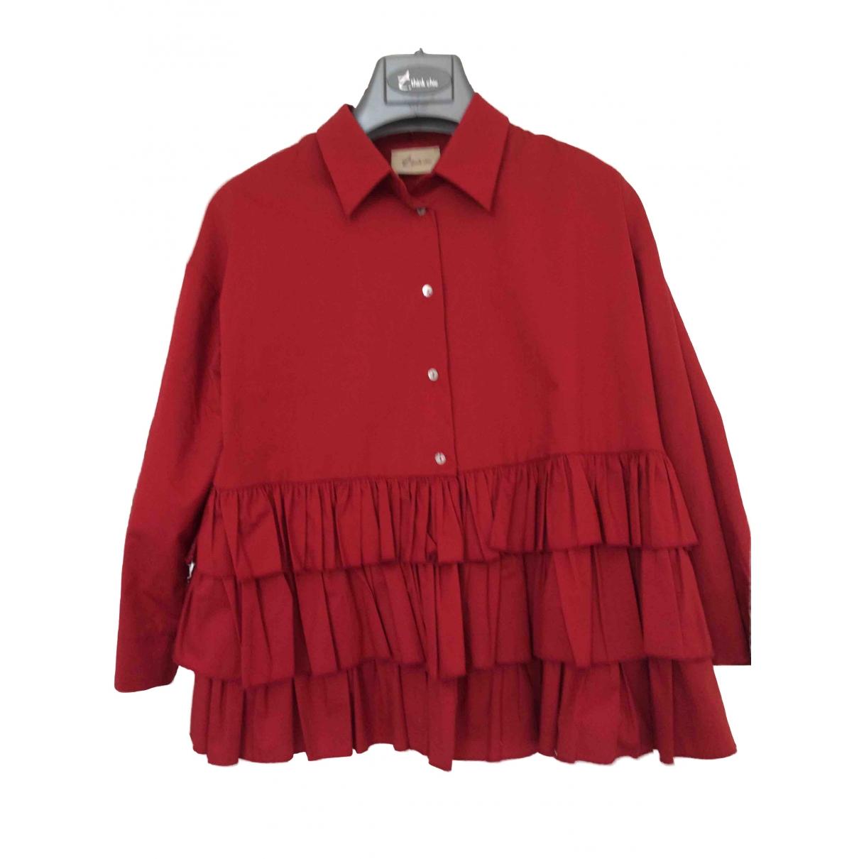 - Top   pour femme en coton - rouge