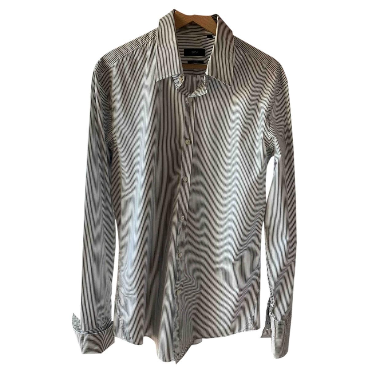 Hugo Boss - Chemises   pour homme en coton - blanc