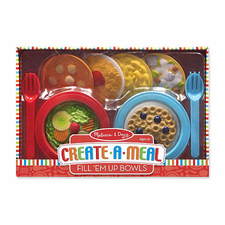 Melissa & Doug Create-A-Meal Fill 'Em Up Bowls, One Size , Multiple Colors