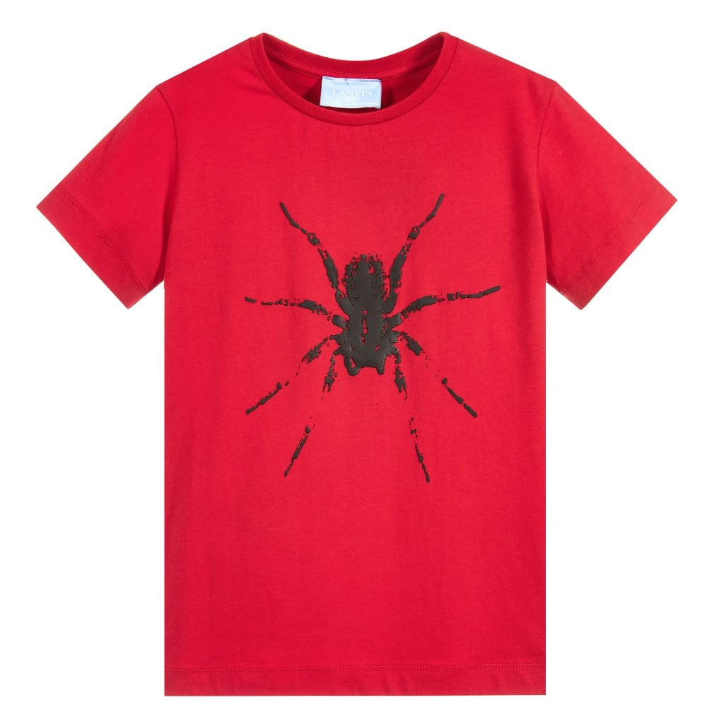 Lanvin Kids Spider T-Shirt Colour: RED, Size: 12 YEARS