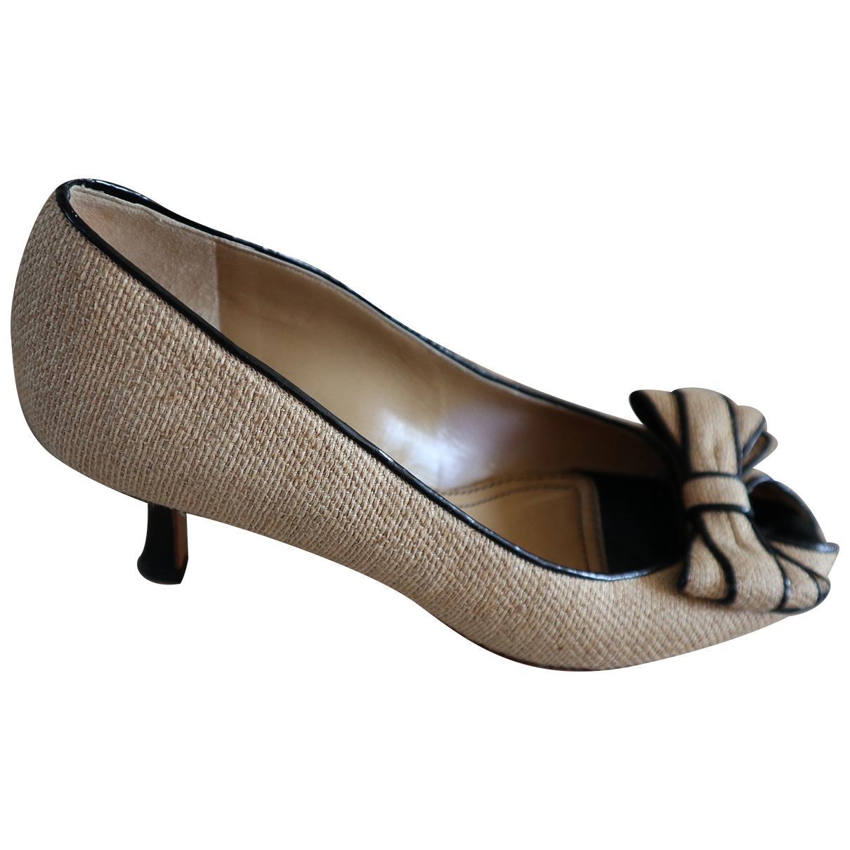 Carel \N Beige Leather Heels for Women 37.5 EU