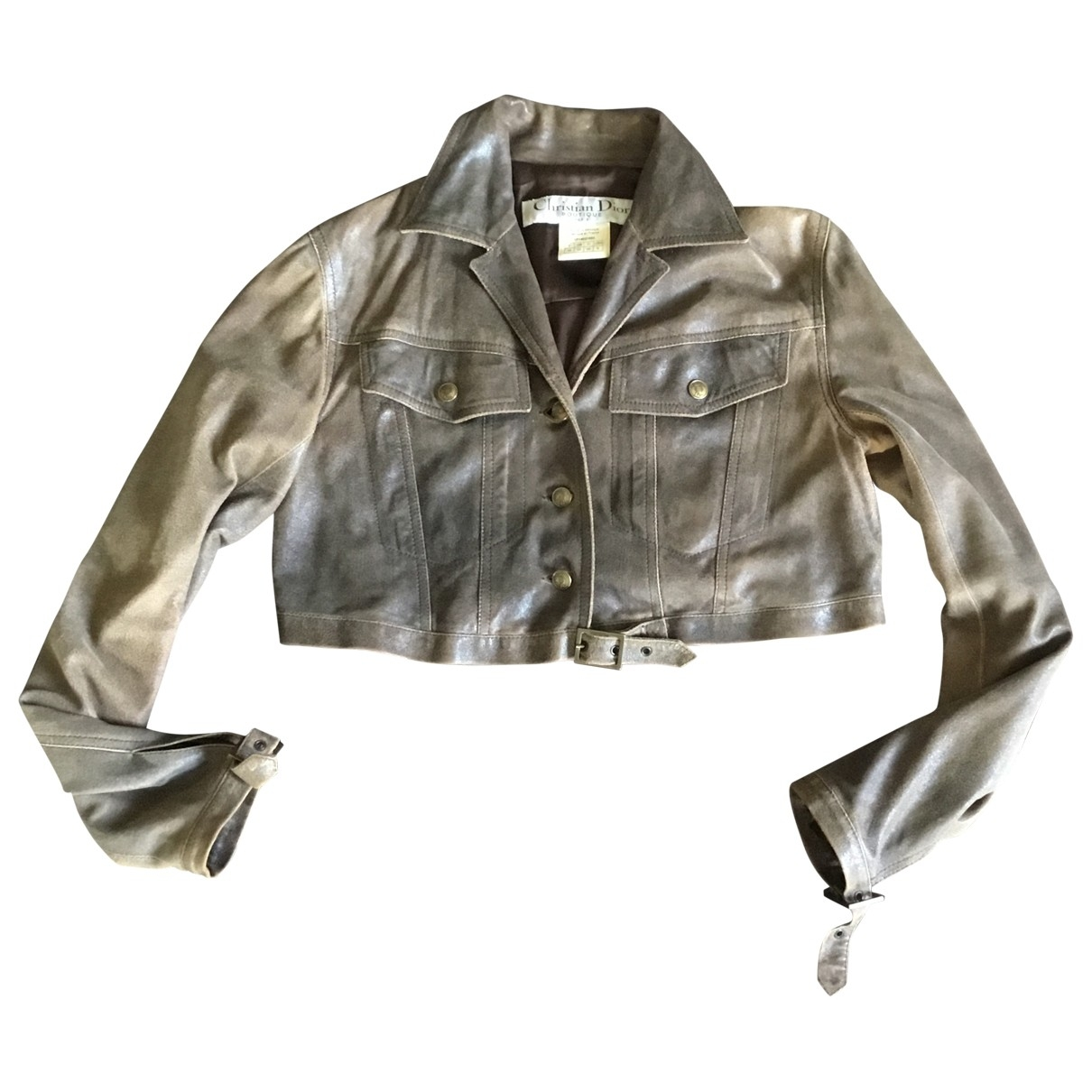Dior \N Brown Leather jacket for Women 38 FR
