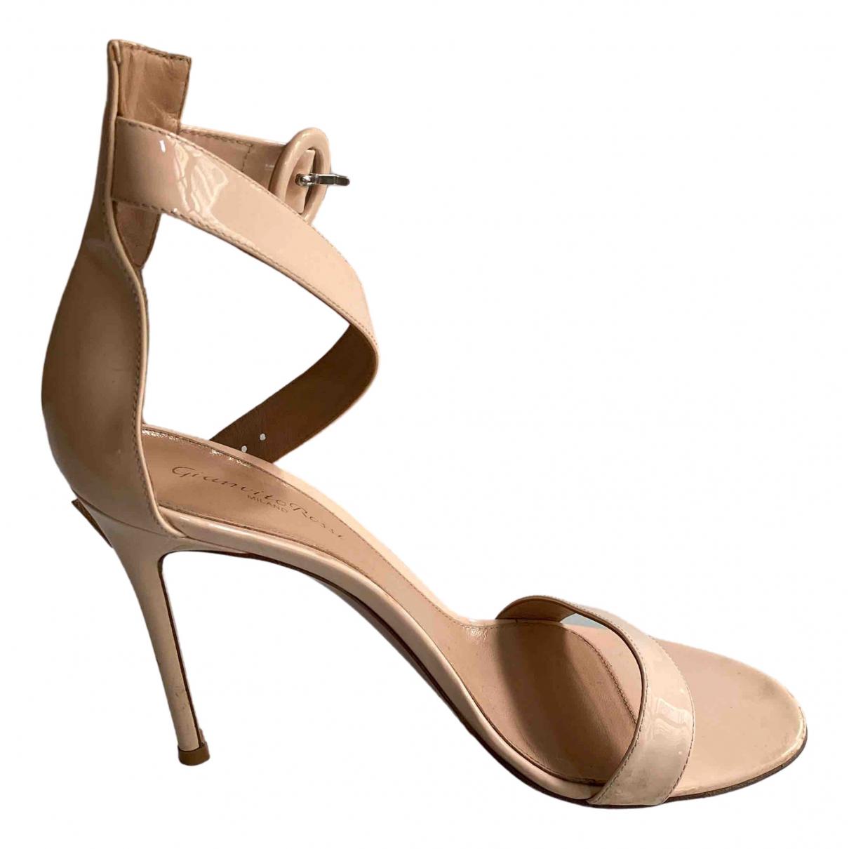 Gianvito Rossi - Sandales   pour femme en cuir - rose