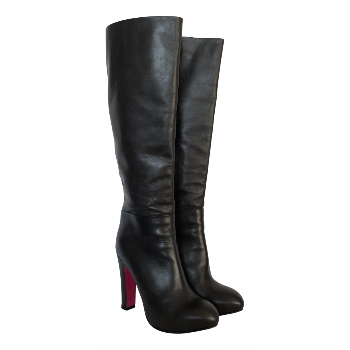 Luciano Padovan N Black Leather Boots for Women 36 IT