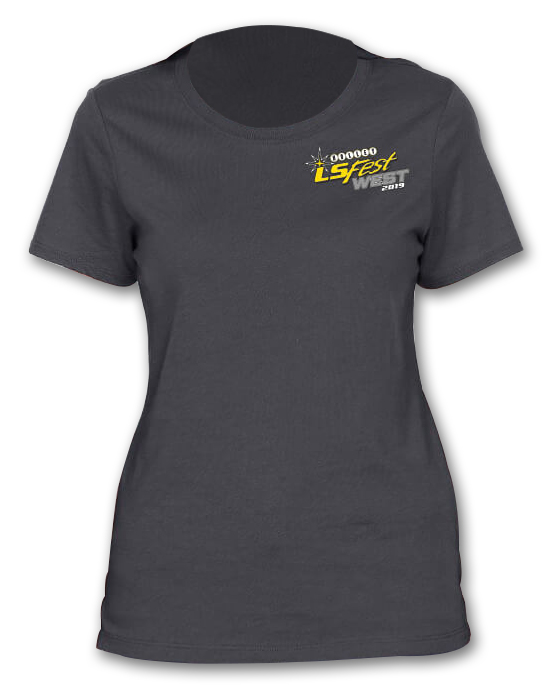 Holley 10199-LGHOL LTS 2019 LSWEST LADIES CHAMP TEE - CHAR