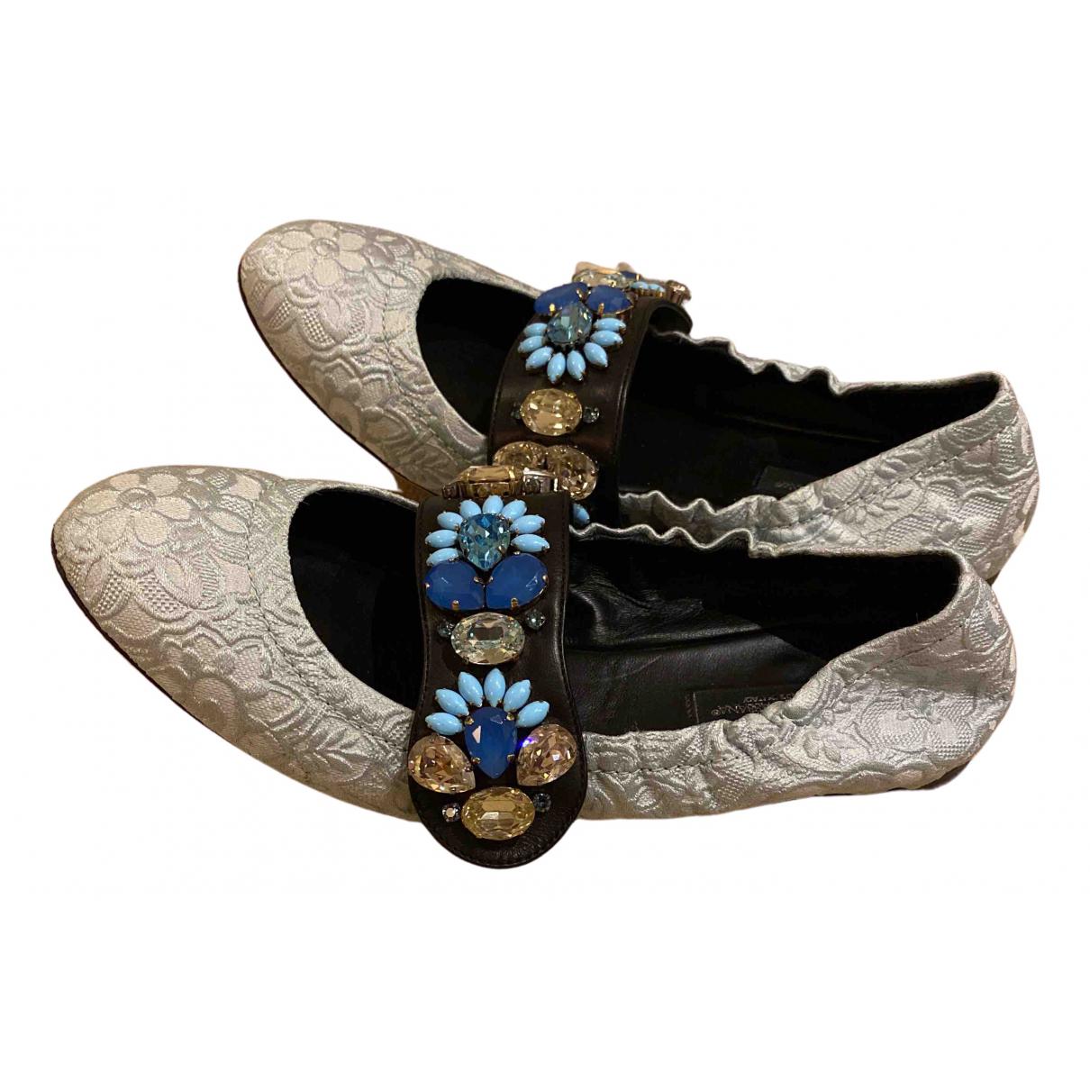 Dolce & Gabbana \N Ballerinas in  Silber Leinen