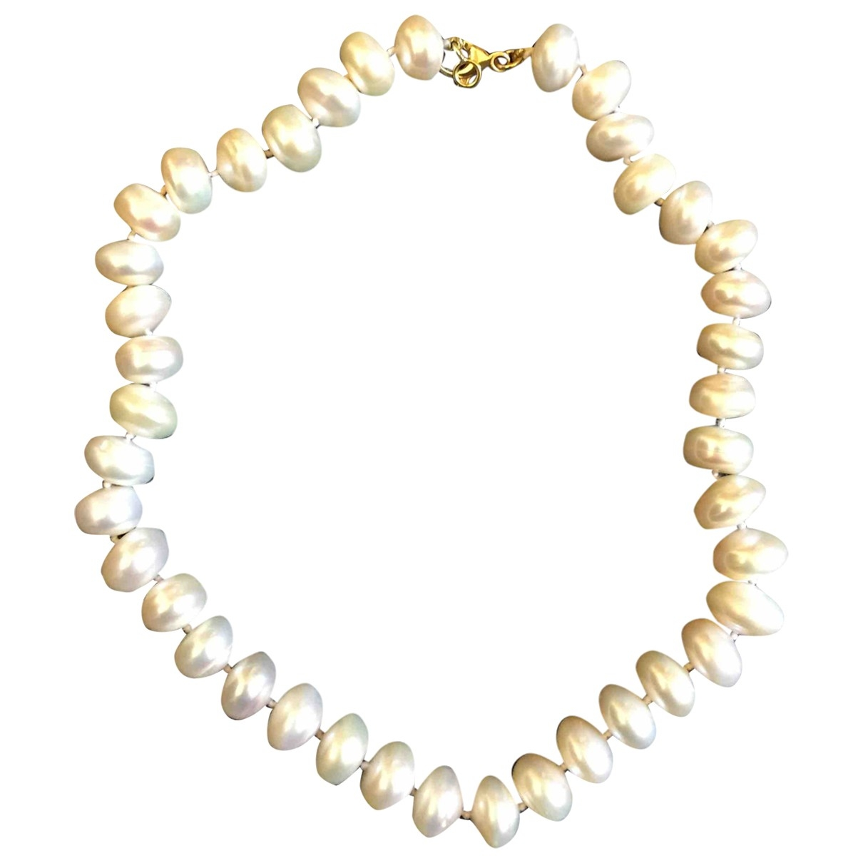 Non Signé / Unsigned \N Pearls necklace for Women \N
