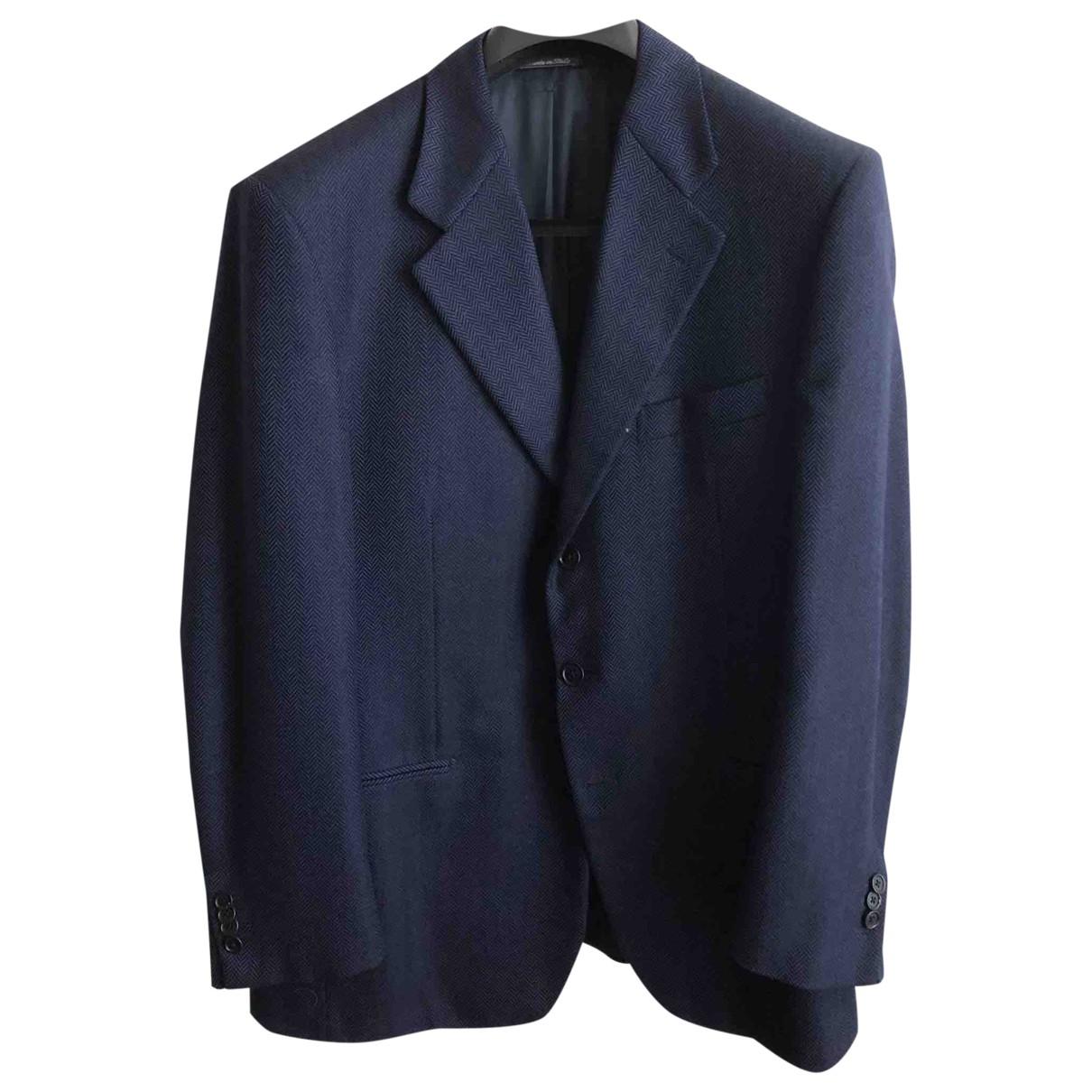 Tombolini \N Jacke in  Blau Wolle